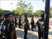Military band parading and playing at flag lowering 6pm - Merida: by jugap, Views[111]
