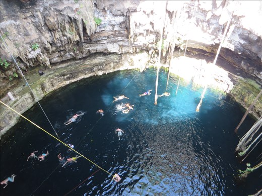 Cenote from above- Valladolid