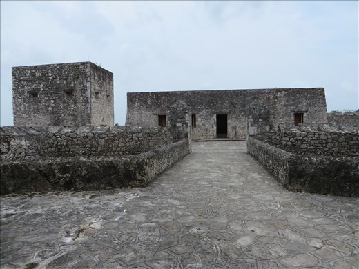 Inside Spanish fort - Bacalar