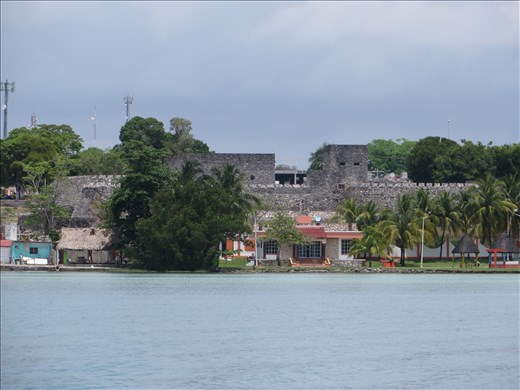 Spanish Fort from lagoon - Bacalar