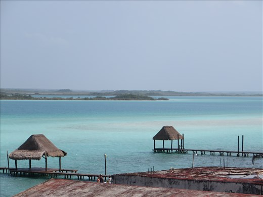Bacalar - view from hostel verandah