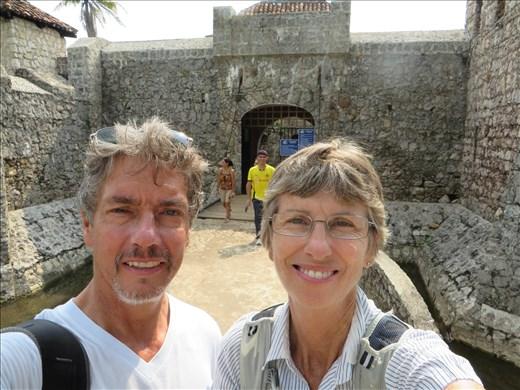 Rio Dulce - Spanish fort - selfie