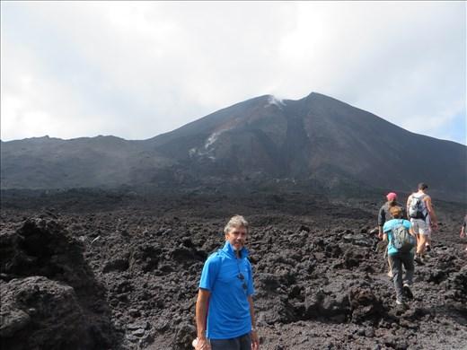 Pacaya Volcano - at bottom