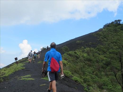 Hiking away from Pacaya volcano