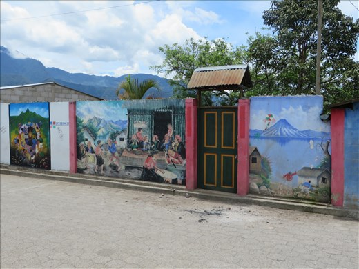 San Juan La Laguna (nearby) - murals on houses