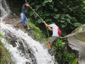Juayua - Gary going down the waterfall as did I: by jugap, Views[111]