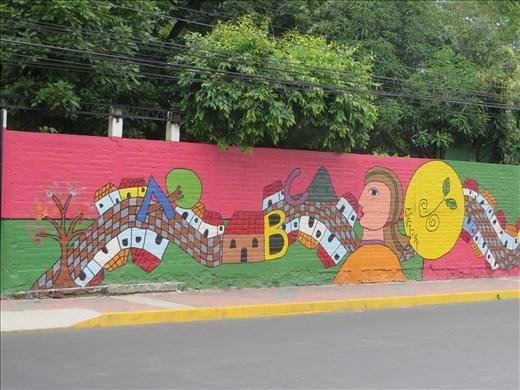 Santa Tecla - mural