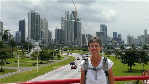 View from overhead walkway - Panama City