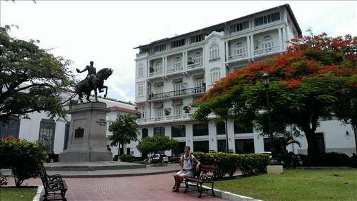 Park - old city - Panama city