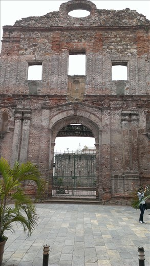 Facade only - old city - Panama city
