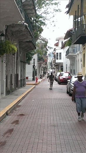 Streetscape - old city - Panama city
