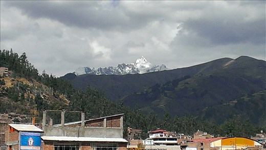 View from hostel terrace - Huarez