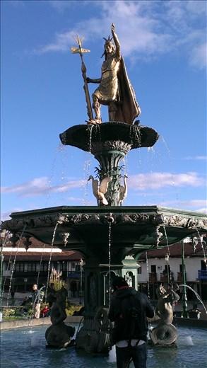 Centre of Plaza de Aramas - Cusco