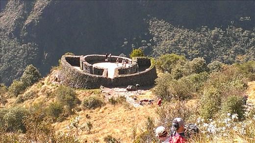 Inca ruins on trail