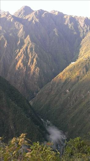View along inca trail