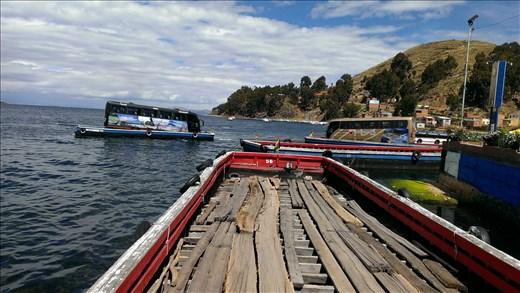 On way to La Paz - bus on
