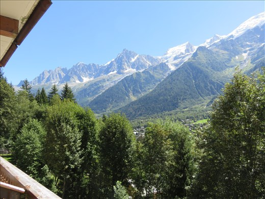 Les Houches,France - our first view of the Alps - walk eve - approx 8pm