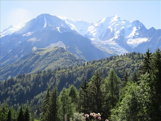 View ahead - Mont Blanc in distance