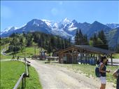 Col de Voza - 1653m - closer view of Mont Blanc.Water stop.Resort Hotel nearby.: by jugap, Views[121]