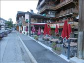 Les Contamines - our dinner venue under a umbrella - bed just  50m away: by jugap, Views[123]