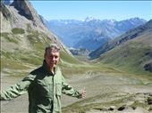 Looking forward into Italy at Col de la Seigne - lunch stop: by jugap, Views[124]