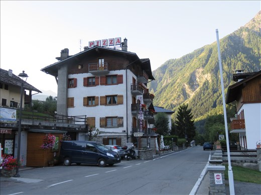 Courmayeur - our evening dining option - pizza,pasta