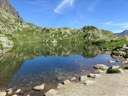 Mountain lake on way to refuge