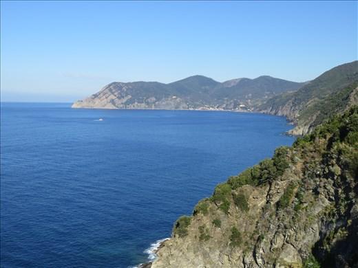 Coastline - looking north from Cornigilia
