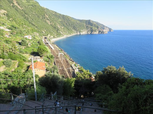 View from Corniglia looking south - on the hillside going to Manarola