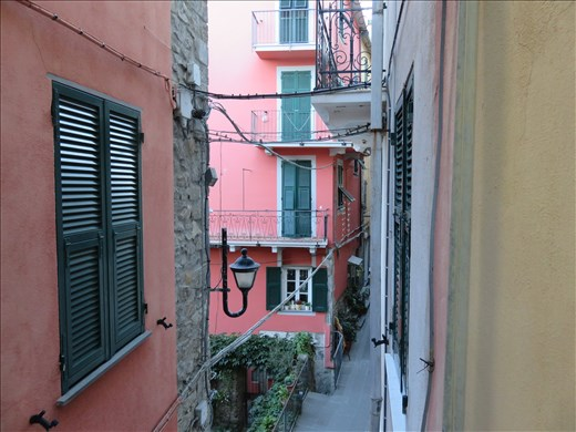 Corniglia - view from appt balcony - 1 floor up -