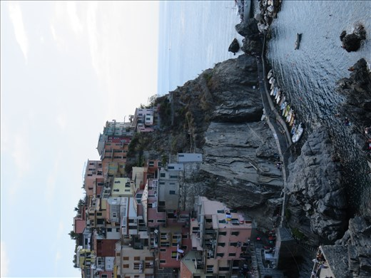 Manarola - harbour from above