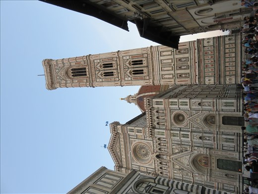 Florence - front of Duomo (cathedral) and bell tower