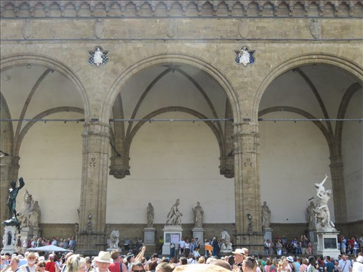 Florence - same piazza - many statues