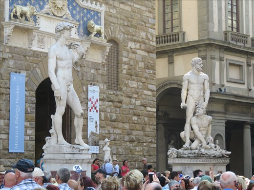 Florence - statues in a piazza