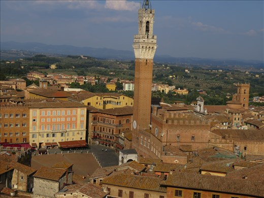 Siena - view of rooftops from one of the Duomo buildings
