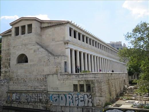 Athens - Stoa of Attalos - close up view