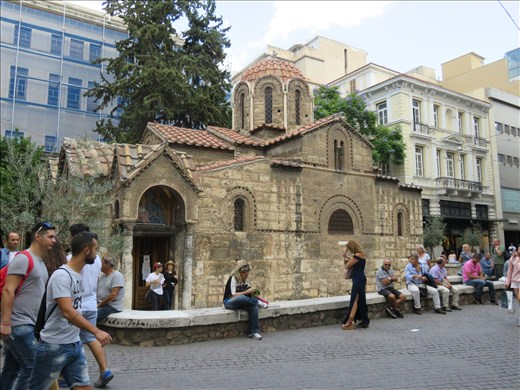 Athens - church in small square in city centre
