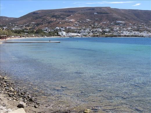 Paros - walking along beach just near our appt