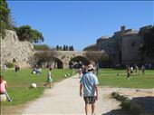 Rhodes - old town - more moat views: by jugap, Views[83]