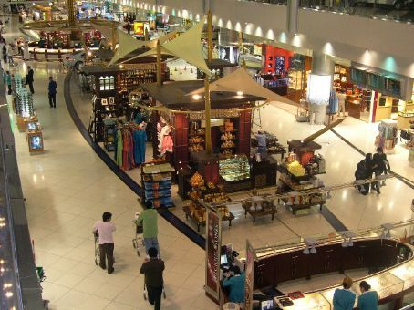 The central area in the duty free area of Dubai airport.