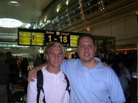 My travel buddy Alastair and I, a student from South Africa that I befriended on the flight to Dubai. Without his company I think I would have gone out my mind!