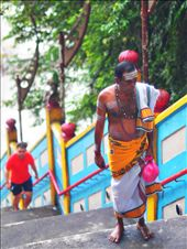 The Tamil worship against the tourist at the back climbing the stairway.: by jumjum, Views[220]