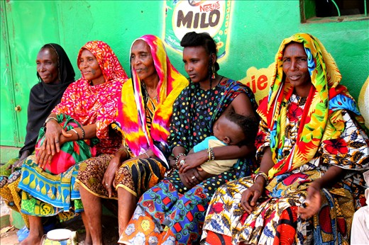 After all day of driving we stopped for food supplies at Labe, Guinea. To our delight we came across a Fulani man and his five wives. The colors and facial tattoos are unique only to the Fulani tribe.