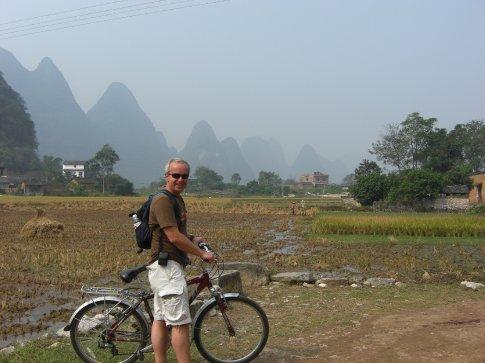 Me on my bike in the ....Yangshuo countryside