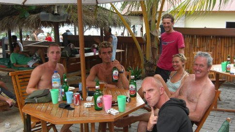A few guys from the dive school