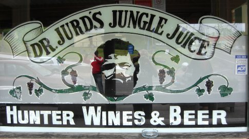 The famous Dr Jurds Jungle Juice....apparantly.  Very nice too