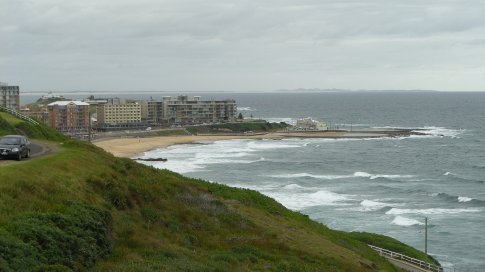 Newcastle....looks as chilly as the one at home....and as rough.(and I'm not talking about the sea either!)
