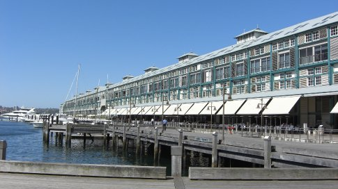 Woolloomooloo Wharf, Sydney.  Russell Crowe lives down the end.....he wasn't in.