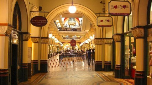 The Queen Victoria Building Shopping arcade....Sydneys equivalent of Bluewater.  Only nicer