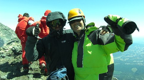 Me and Herman.  The guide and Hostellier